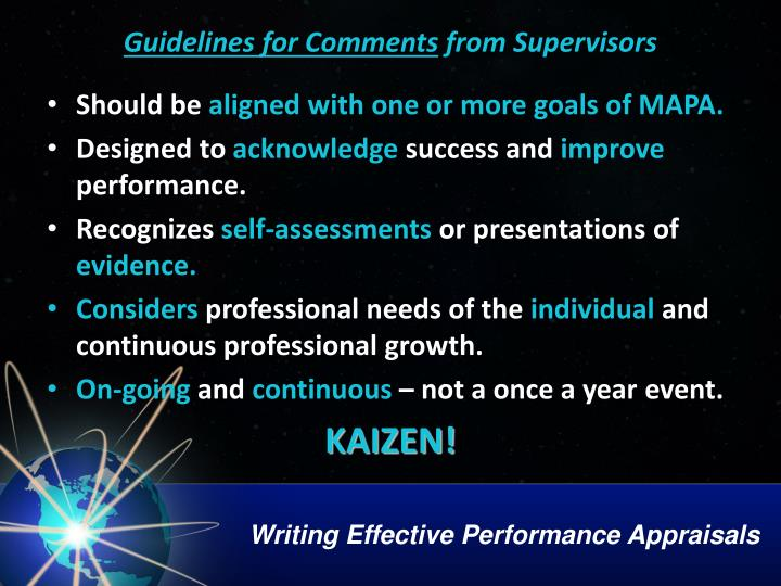 Writing Effective Performance Appraisals
