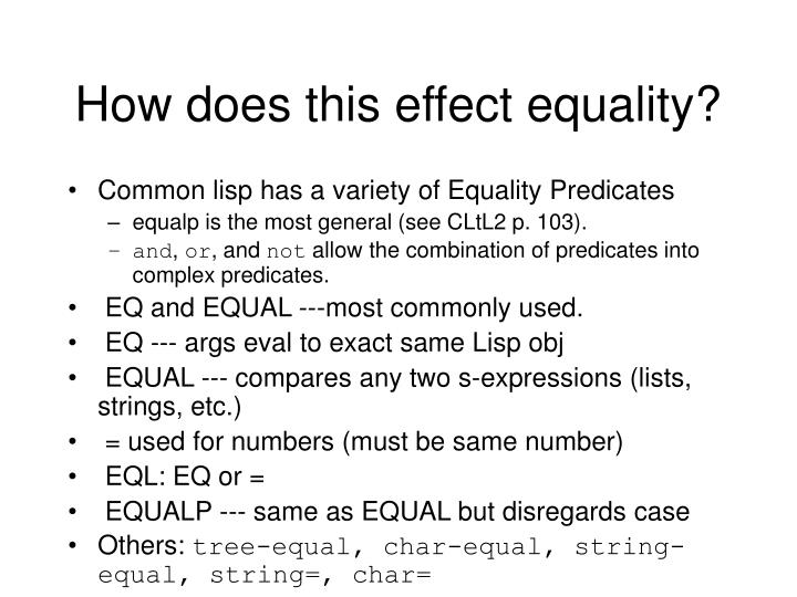 How does this effect equality?