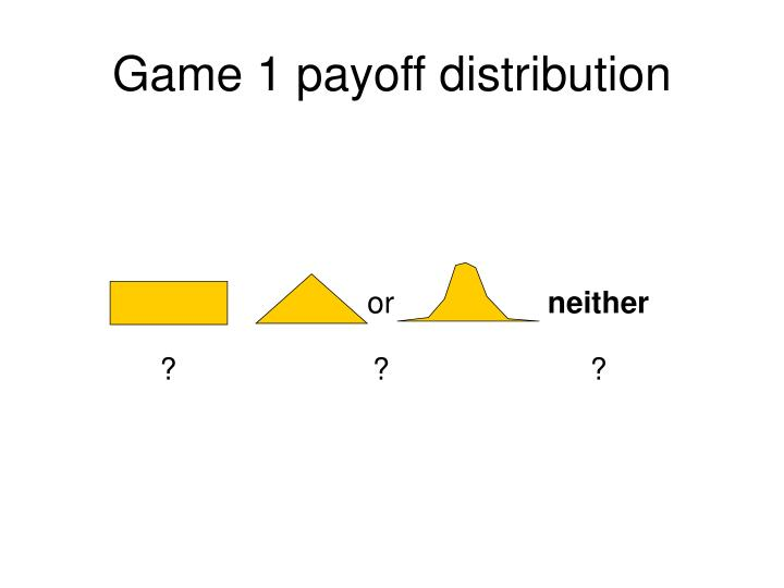 Game 1 payoff distribution