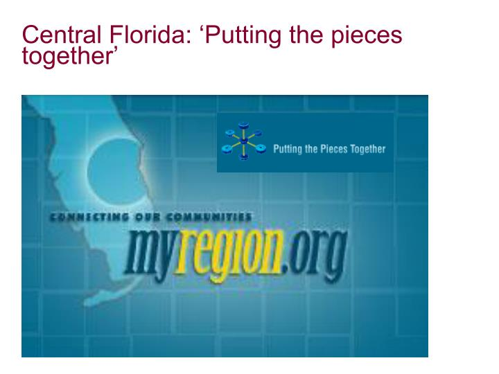 Central Florida: 'Putting the pieces together'