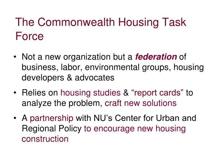 The Commonwealth Housing Task Force