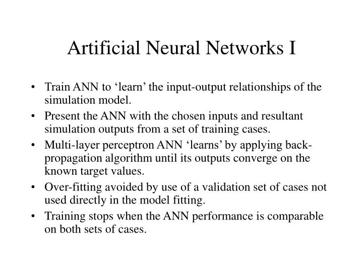 Artificial Neural Networks I