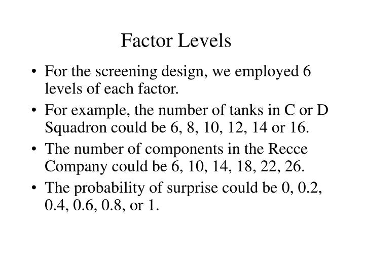 Factor Levels