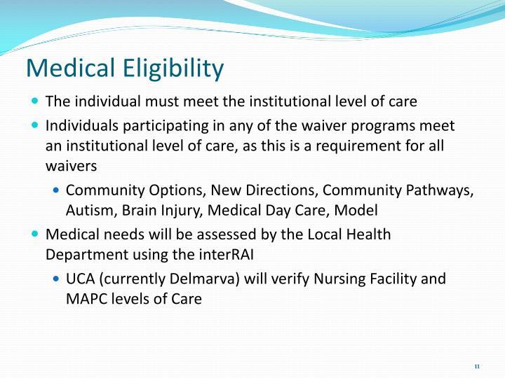 Medical Eligibility
