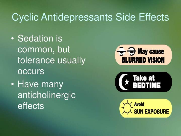 Cyclic Antidepressants Side Effects