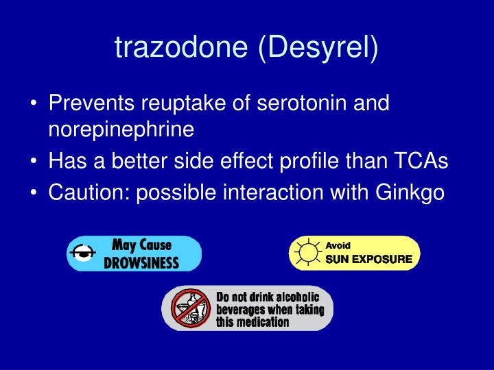 trazodone (Desyrel)