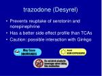 trazodone desyrel