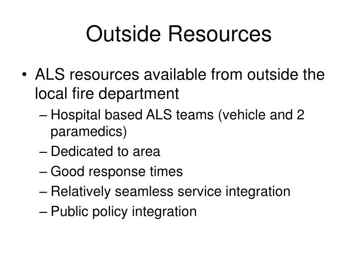 Outside Resources