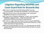 litigation regarding mospra and coast guard rule for buzzards bay