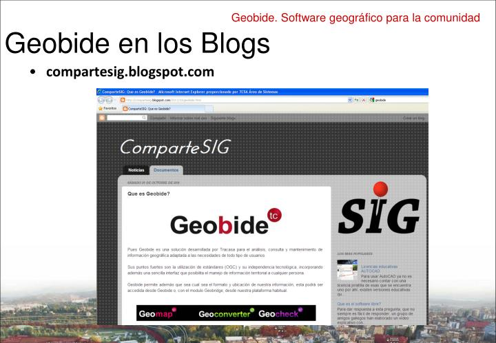 Geobide en los Blogs
