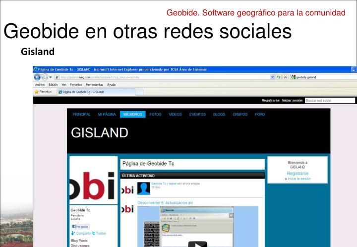 Geobide en otras redes sociales