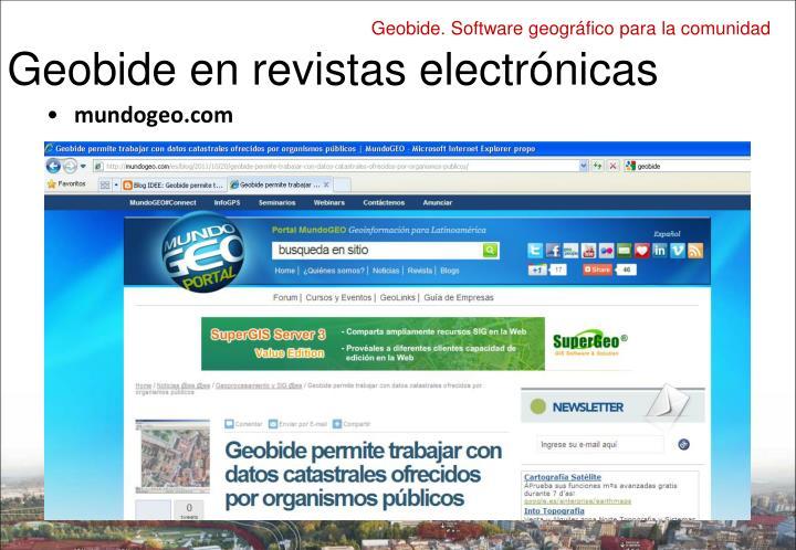 Geobide en revistas electrónicas