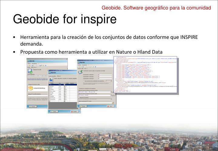 Geobide for inspire