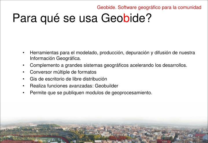 Para qué se usa Geo
