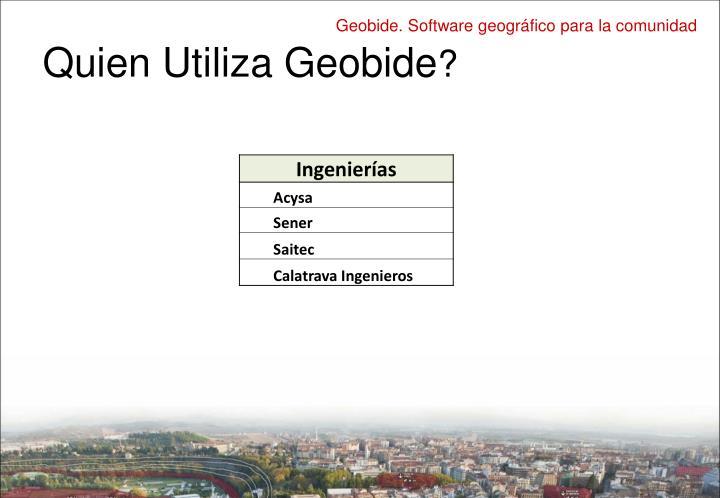 Quien Utiliza Geobide