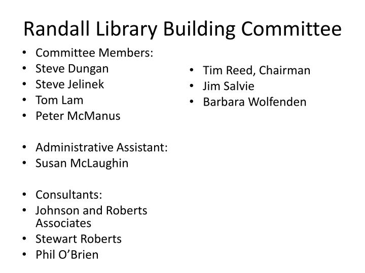 Randall Library Building Committee