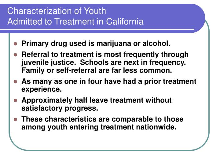 Characterization of Youth