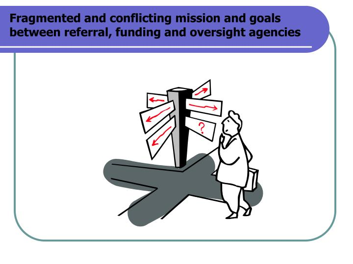 Fragmented and conflicting mission and goals