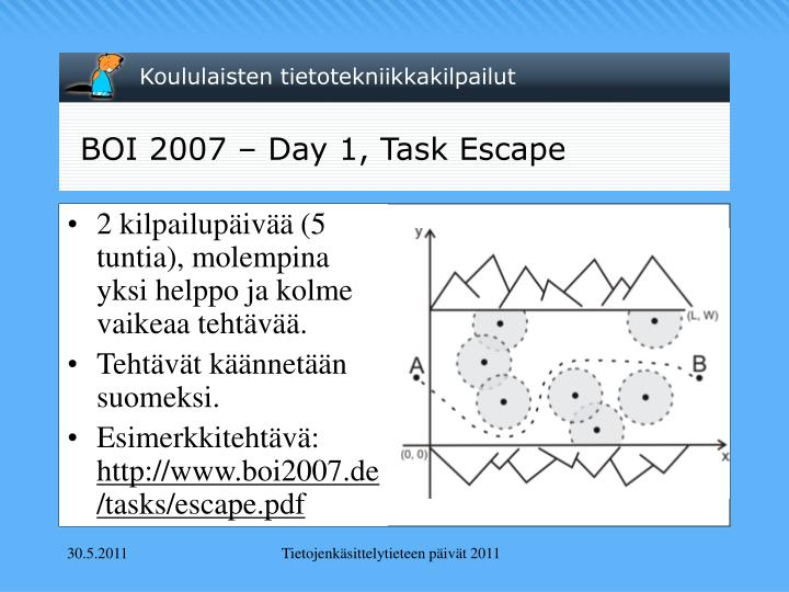 BOI 2007 – Day 1, Task Escape