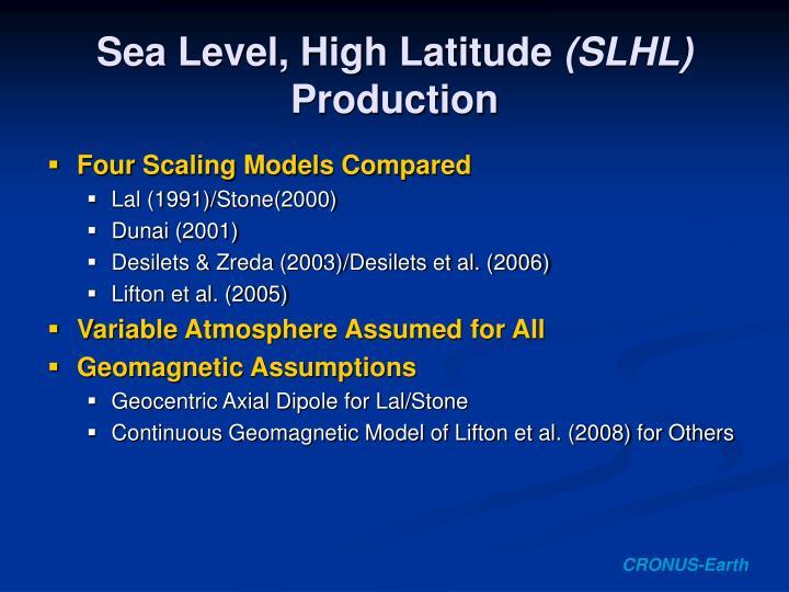Sea Level, High Latitude