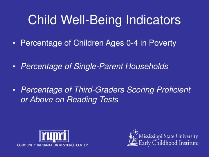 Child Well-Being Indicators