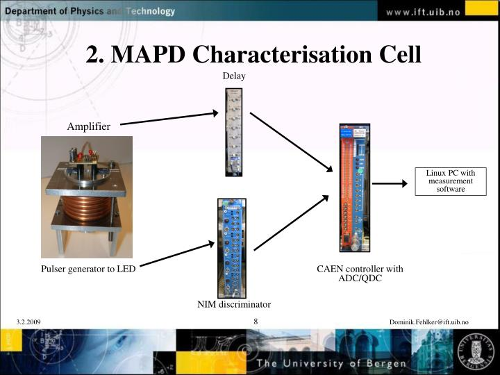 2. MAPD Characterisation Cell