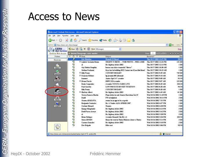 Access to News
