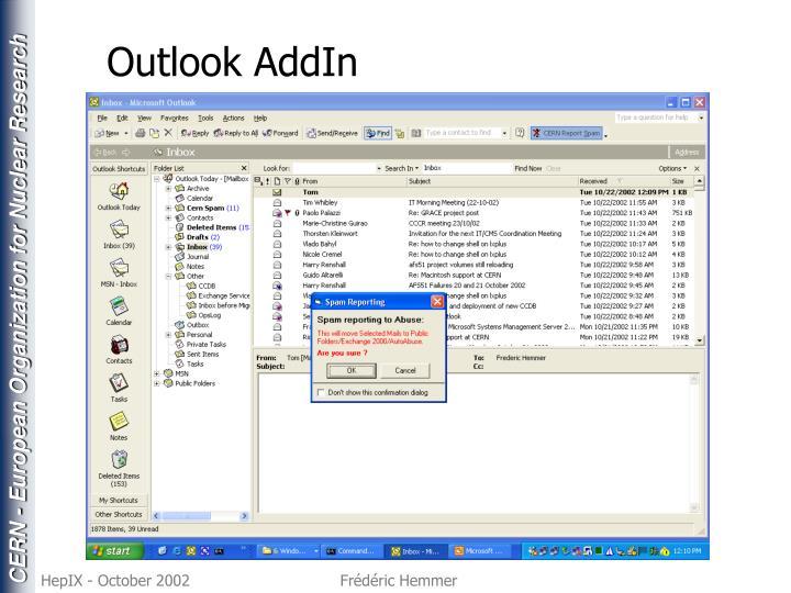 Outlook AddIn