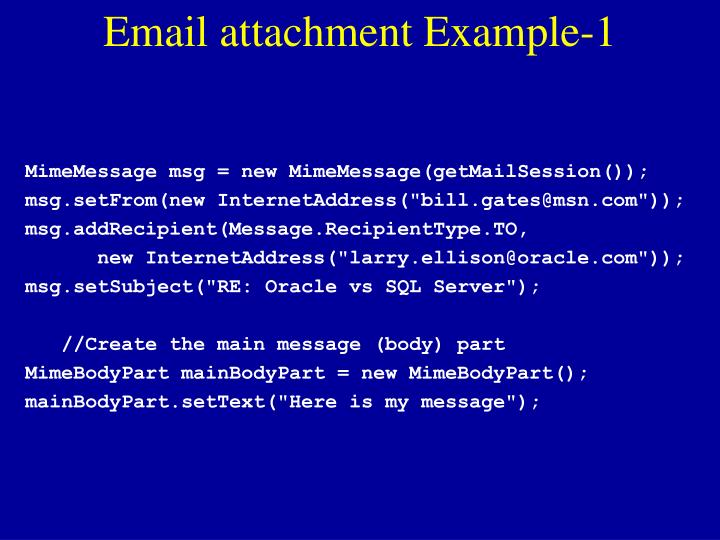 Email attachment Example-1