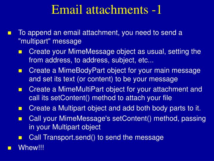 Email attachments -1