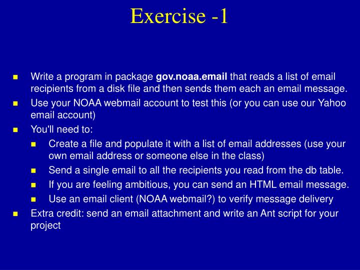 Exercise -1