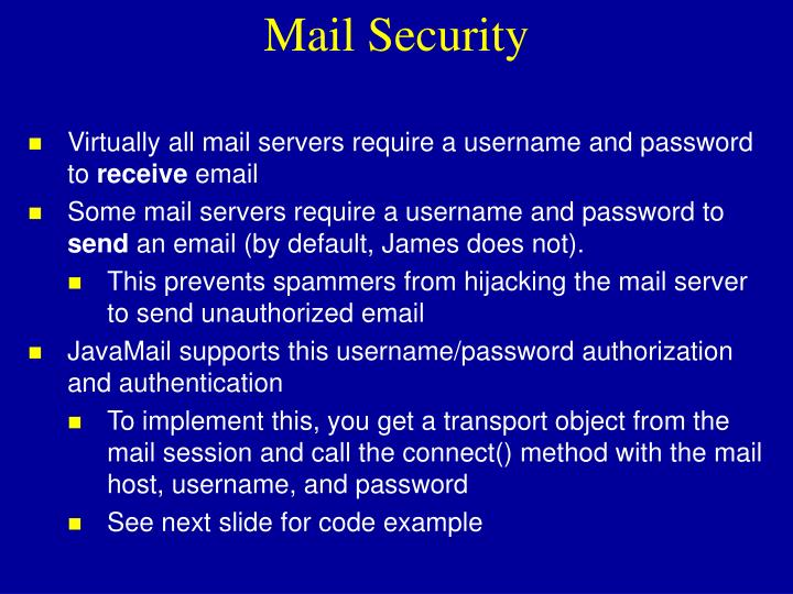 Mail Security