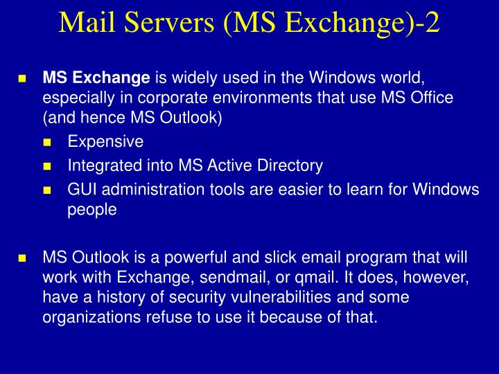 Mail Servers (MS Exchange)-2