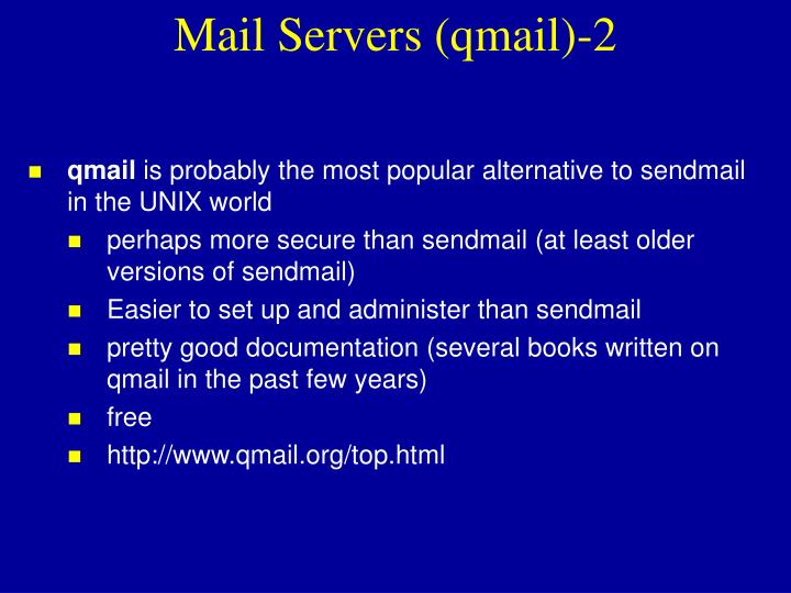 Mail Servers (qmail)-2