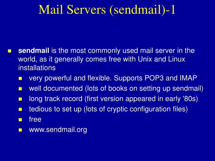 Mail Servers (sendmail)-1