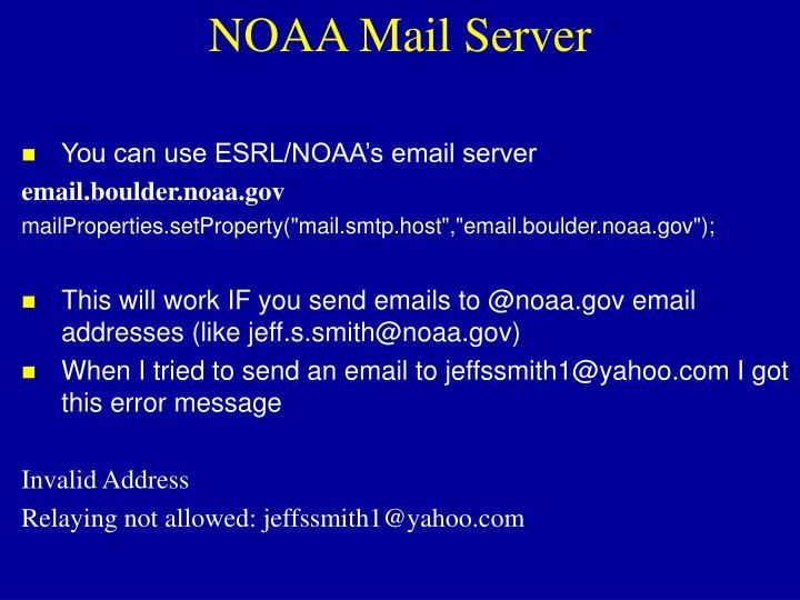 NOAA Mail Server