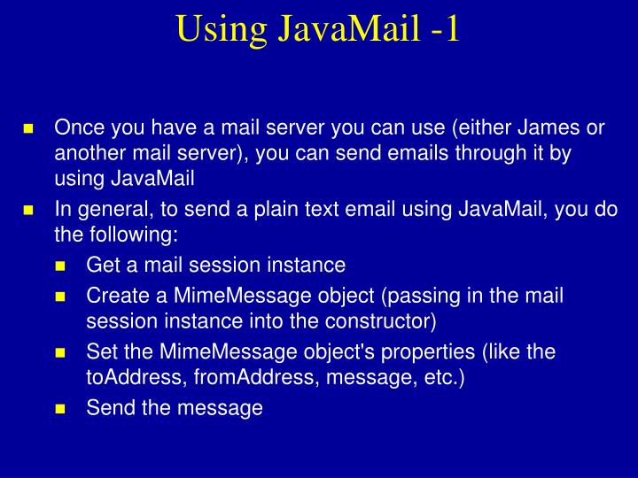 Using JavaMail -1