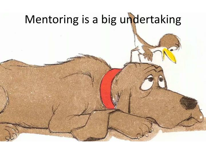 Mentoring is a big undertaking