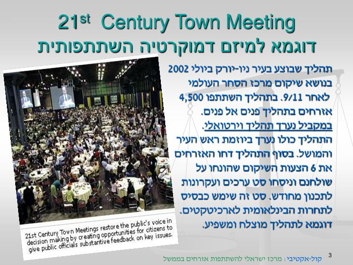 21 st century town meeting