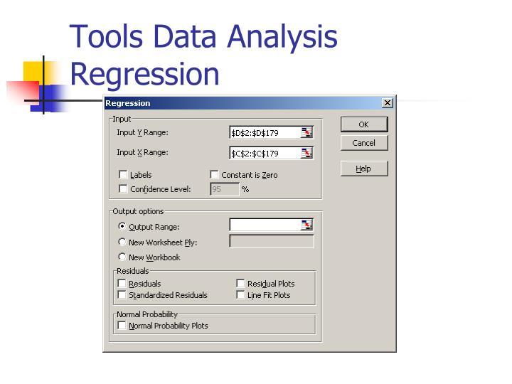 Tools Data Analysis Regression