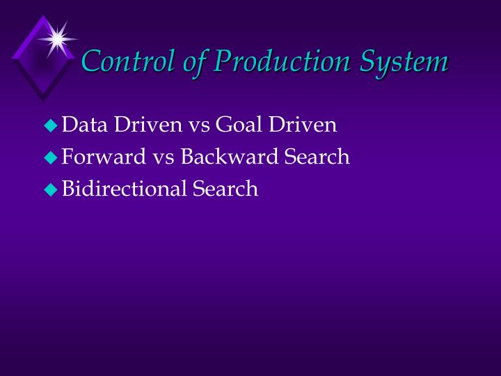 Control of Production System
