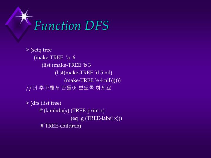 Function DFS