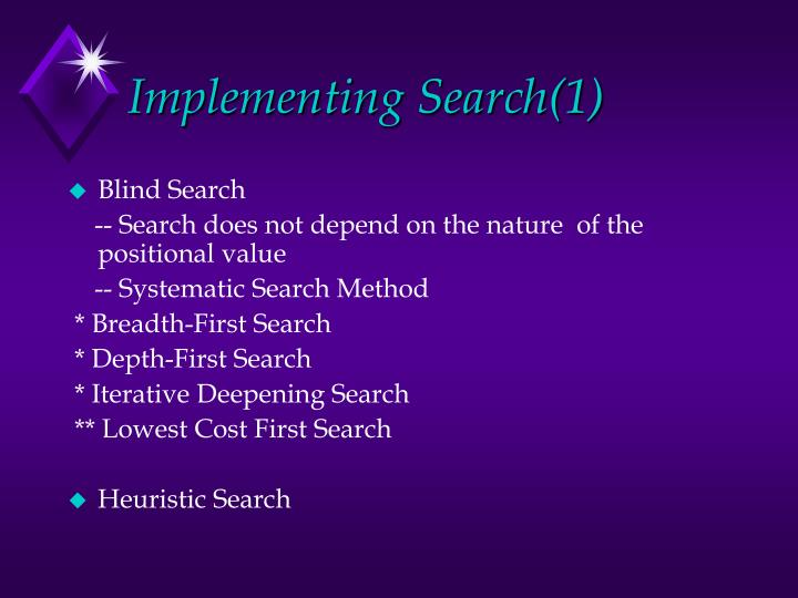 Implementing Search(1)