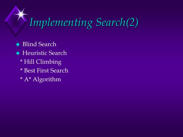 Implementing Search(2)
