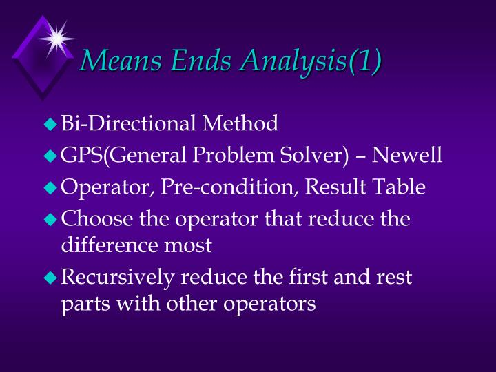 Means Ends Analysis(1)