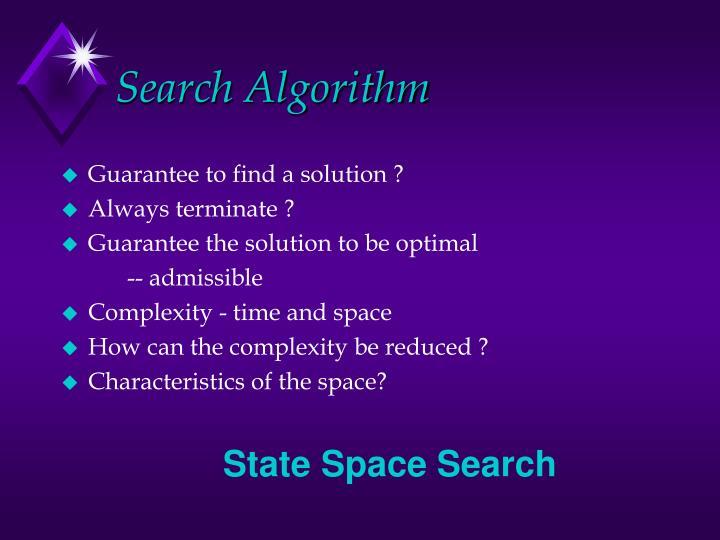 Search Algorithm