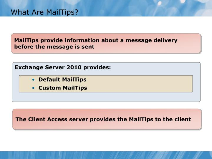 What Are MailTips?