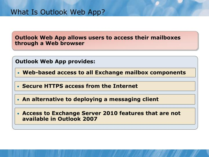 What Is Outlook Web App?