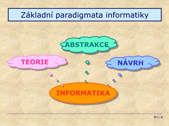 Základní paradigmata informatiky