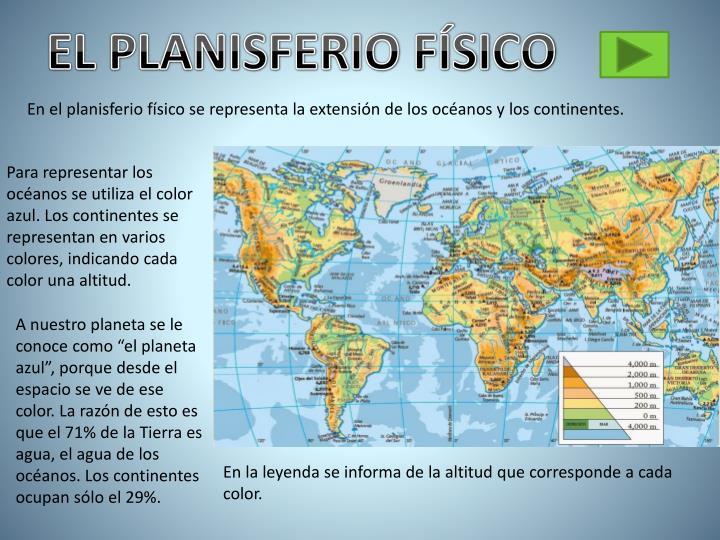 EL PLANISFERIO FÍSICO